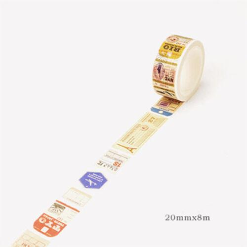 Retro Decor Vintage Style Paper Washi Masking Tape Sticker Crafts Scrapbook DIY