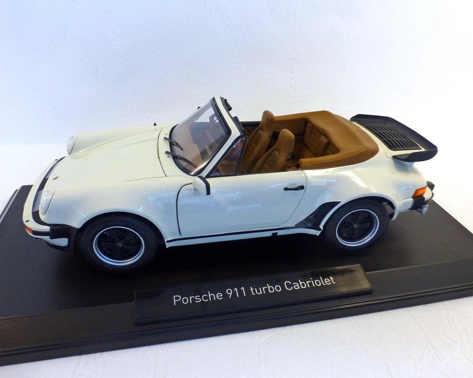Porsche 911 Turbo Cabriolet-marfil, 1987, 1 18 norev