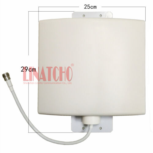 Full band 800-2700MHz 12dB GSM LTE 4G Repeater Outdoor Waterproof Panel Antenna