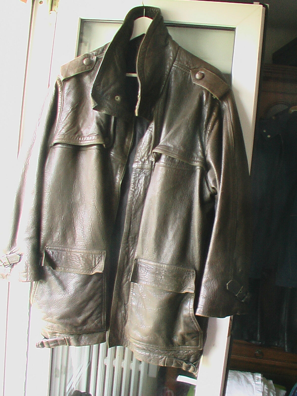 Blouson en cuir  MARITHE & FRANCOIS GIRBAUD made in France 50 <> 52