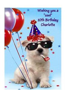 Image Is Loading Personalised A5 Birthday Card Funny Dog Son Daughter