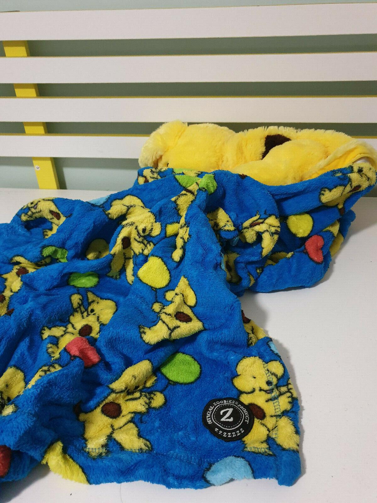 Spot Zoobies juguete de felpa juguete de Cocheacteres con Manta Raro Con Manta  Perro Amarillo