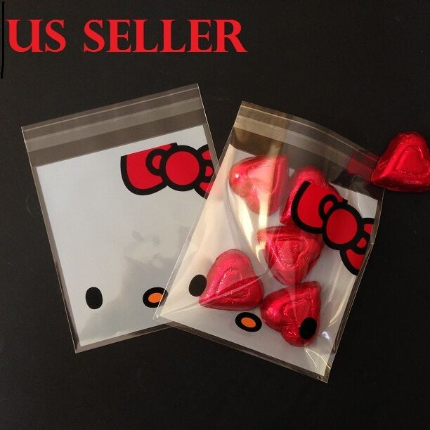 NEW SANRIO HELLO KITTY 3 PACK SET PLASTIC ZIPLOCK GIFT BAGS 57 PCS WITH TRACKING