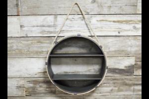Industrial-Nautical-Style-Rope-Hanging-Circular-Shelf-Unit-Circle-Shelves-Metal