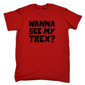 Funny-Kids-Childrens-T-Shirt-tee-TShirt-Wanna-See-My-Trex-Black-Dinosaur-T-Rex