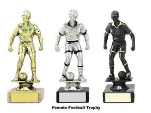 10 x Female Football TrophyMarble Base160mm3 ColoursFree Engraving 1365mup - <span itemprop=availableAtOrFrom>Fazeley, Staffordshire, United Kingdom</span> - Goods supplied by Trophy Showroom Ltd can be returned for refund or replacement goods within 14 days of despatch from our warehouse. Goods will only be accepted for refund  - Fazeley, Staffordshire, United Kingdom