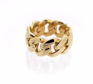 b982f2090d6bb Details about Mens 10K Gold Full Cuban Link Ring Solid 10MM Classic Genuine  Yellow Gold 11G