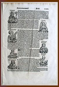 Inkunabel, Schedel Weltchronik, Pag. Cxiiii - Woodcut 1493, Graphics - Graphic
