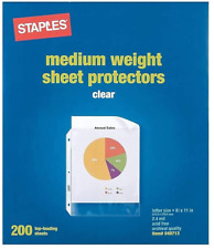 Top Loading 24 Mil Clear Sheet Protectors 200 Count New