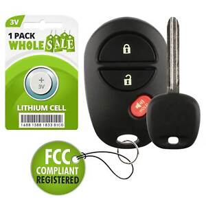 Replacement For 2011 2012 2013 2014 2015 Toyota Tacoma Key + Fob Remote