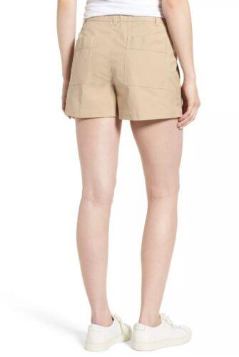 Nordstrom New kaki 149 taglia Beige 18 kaki chino Signature donna Pantaloncini xP8qSYwY