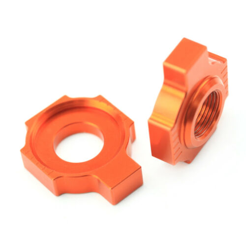 Axle Blocks Chain Adjuster For KTM 125 250 300 450 640 660 EXC//-F//SIX-DAYS LC4