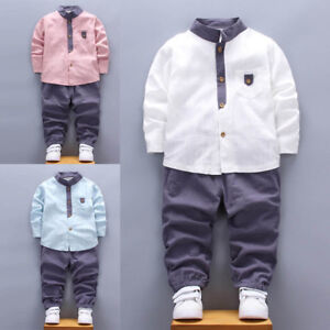 Toddler Boy Kid Shirt Tops+Coat+Pants Clothes Outfits Gentleman Clothes Daily
