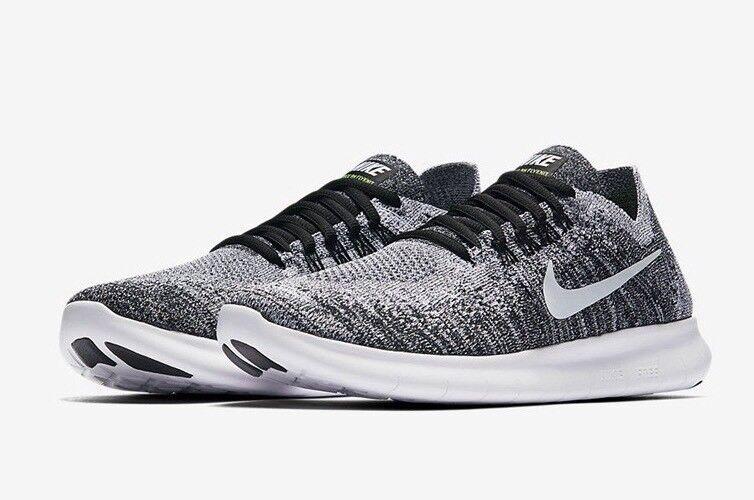 f35f81d33f0d8 Nike Free RN Flyknit 2017  Oreo  Chaussure De De De Course 880844-003  Taille US 8.5 8d60fa