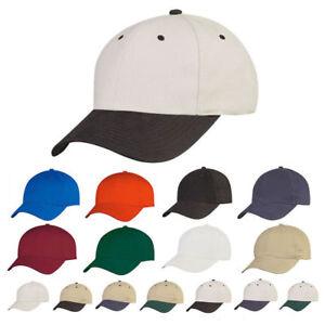 074d58c93 Details about 1 Dozen 100% Cotton 6 Panel Low Crown Baseball Caps Hats  Wholesale Bulk