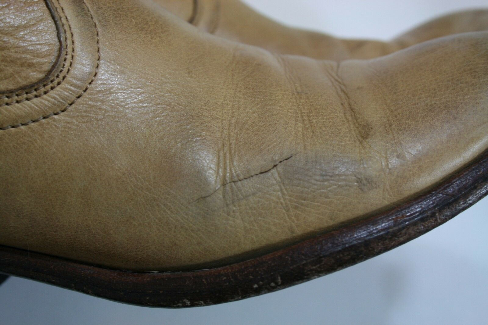 FRYE SHOES CARSON PULL ON ON ON BOOTS LIGHT TAN DISTRESSED LEATHER 77685 7.5  378 f251df