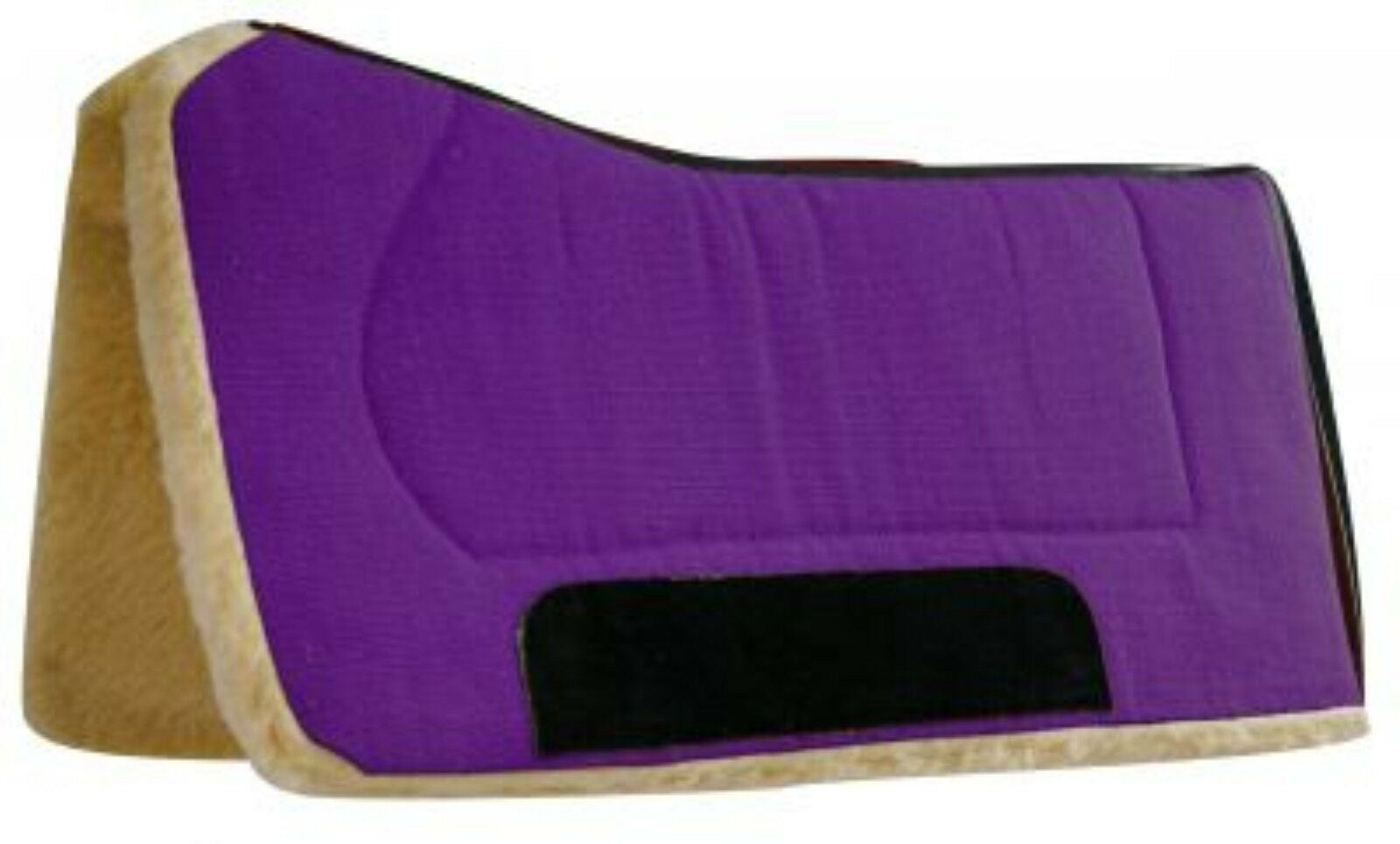 Showman 32  x 32  PURPLE Contoured Pad with Kodel Fleece and Suede Wear Leather