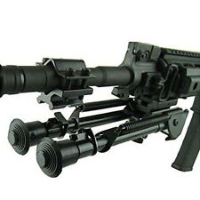 Durable Black Adjustable Bipod For Tactical Airsoft Air Hunting Shooting