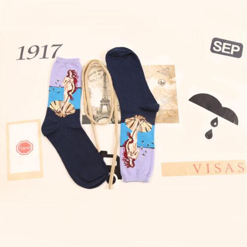 Vintage Retro Famous Painting Art Socks Novelty Funny Novelty For Men Women Cool