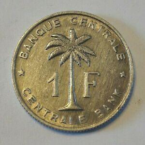 ==>> 1 Franc Congo Belge 1 Frank Belgisch Congo 1957 => 1960 Ttb Km# 4