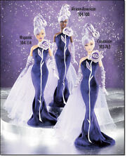 BARBIE Collector SILVER STERLING ROSE Caucasian Bob Mackie NRFB