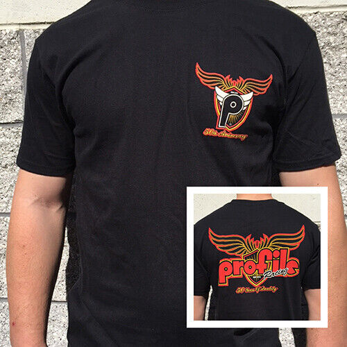 BMX T-Shirt Short Sleeve from PROFILE 50th Anniversary Tee Black Large