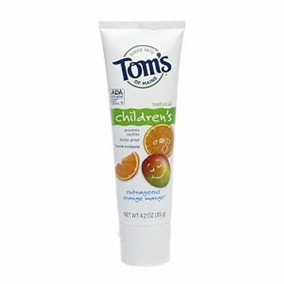 Tom's of Maine Children's Natural Fluoride Toothpaste, Orange Mango 4.2 oz