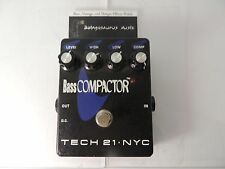 TECH 21 BASS COMPACTOR COMPRESSOR EFFECT PEDAL COMPRESSION SUSTAIN FREE SHIPPING