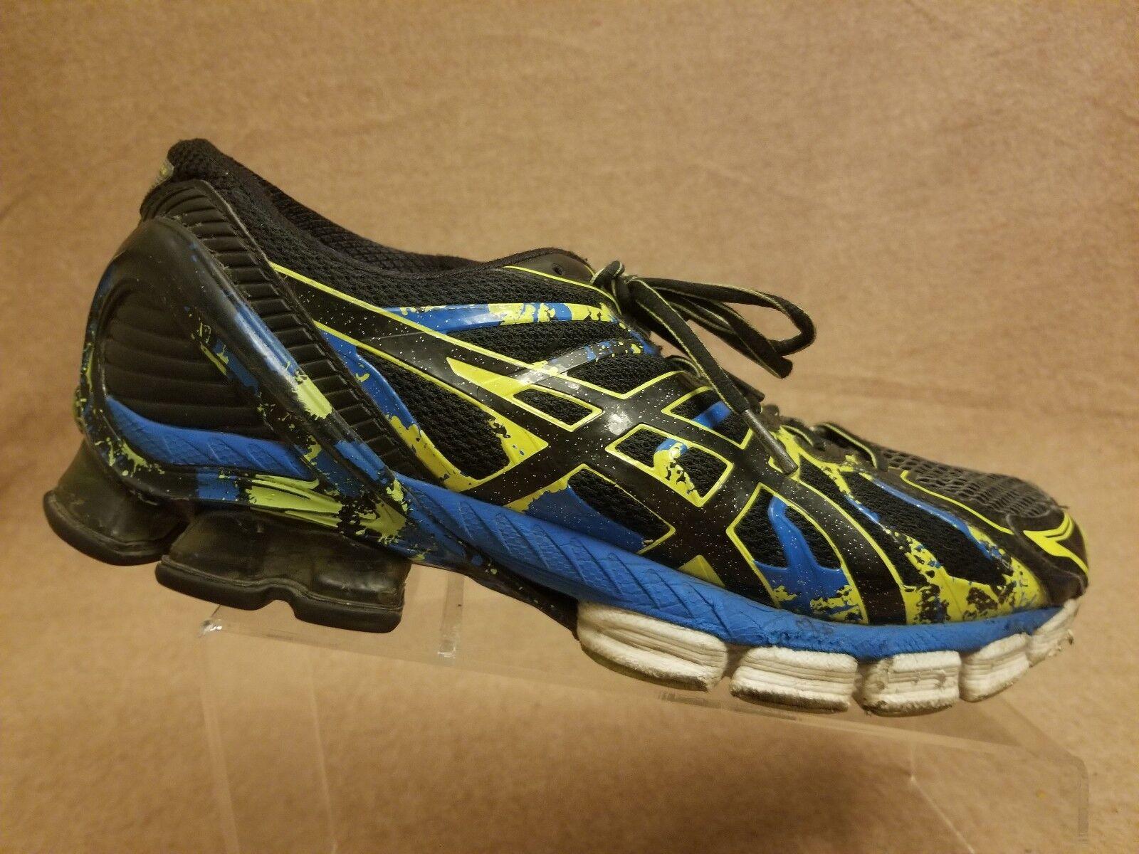 Asics T4A1N Gel Sendai 2 Homme Noir Bleu Athletic Sneaker Running Chaussures