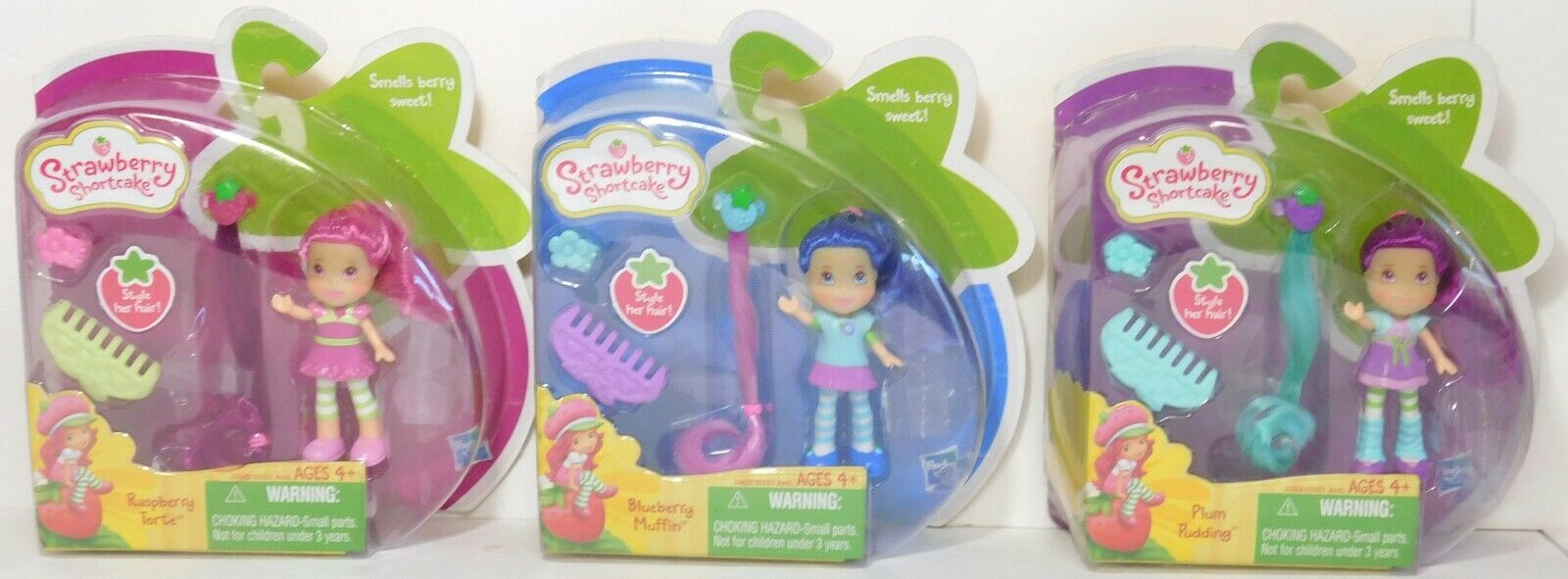 Blauberry Plum Raspberry mini Hair Clip Comb DOLL strawberry shortcake NEW