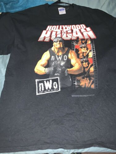 WWE WCW nWo Hulk Hogan T-shirt Size XL Used Black