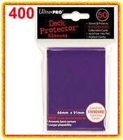 400 Ultra Pro Purple Deck Protector Standard Size Card Sleeves 8 Packs Mtg