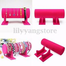 Rose Red Headband Velvet Organizer Holder Retail Shop Display Jewelry Stand Rack