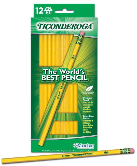 L/ápices HB color amarillo Dixon Ticonderoga 33882 madera, 2 unidades, 4 unidades