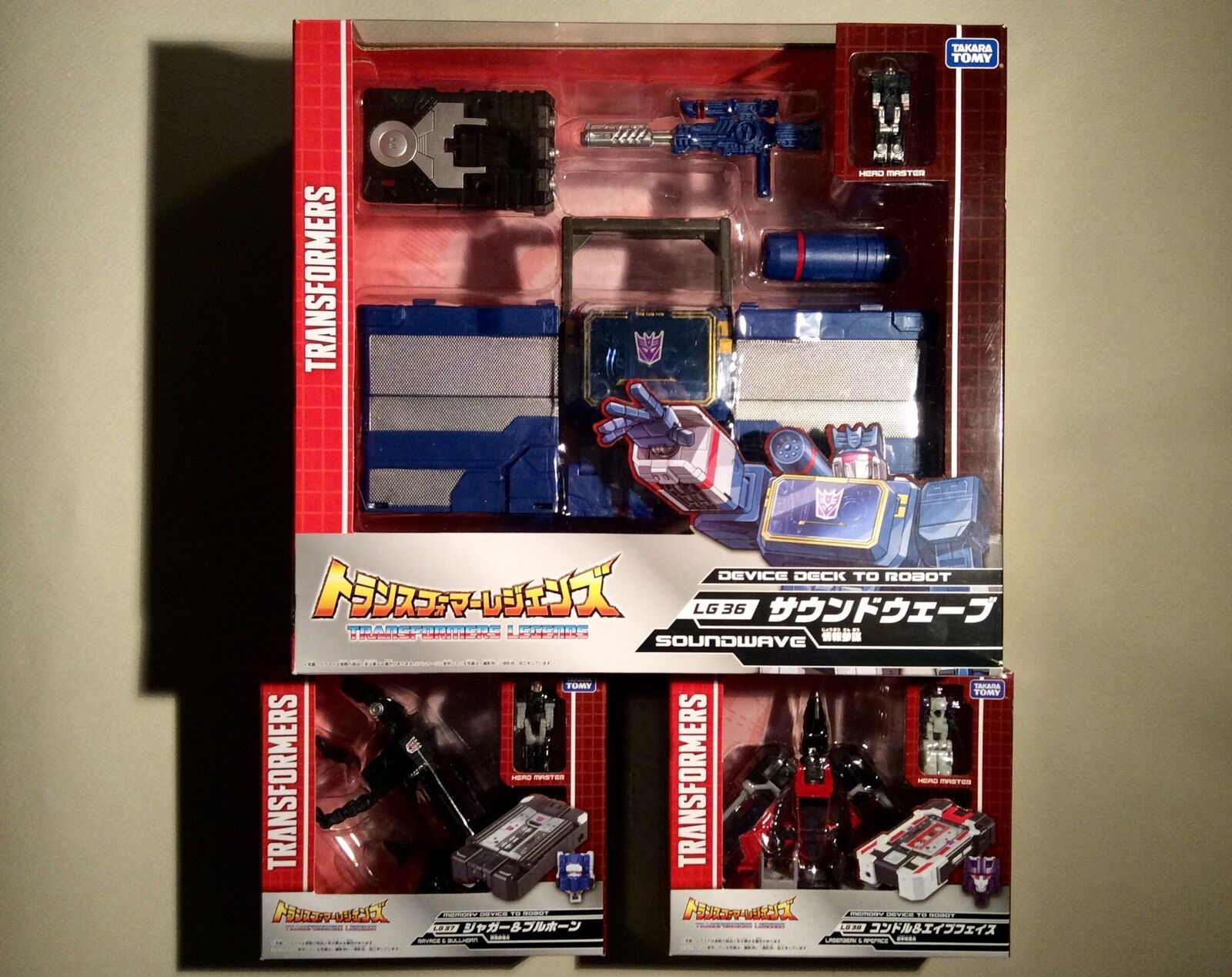 NEUF TRANSFORMERS TRANSFORMERS TRANSFORMERS SOUNDWAVE RAVAGE LASERBEAK LOT TAKARA JAPAN TITAN RETURNS 3a0e58