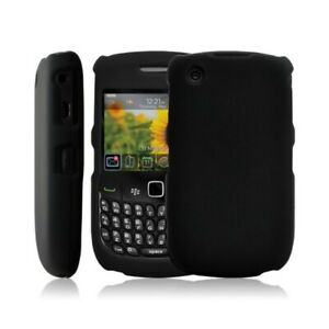 Housse-etui-coque-rigide-pour-BlackBerry-Curve-8520-couleur-rouge-Film-protect