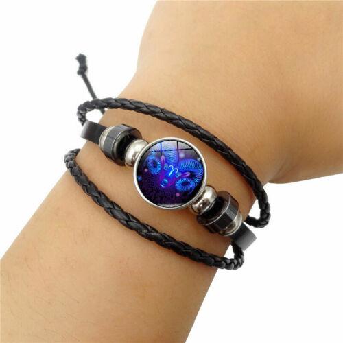 Damen Herren Surferarmband Sternzeichen Widder Blau Geschenk Bracelet Chunk WOW