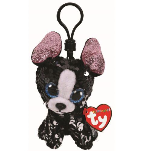 Ty Beanie Babies 35316 Flippables Key Clip Portia the Dog