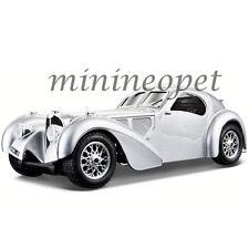 BBURAGO 18-22092 BUGATTI ATLANTIC 1/24 DIECAST MODEL CAR SILVER