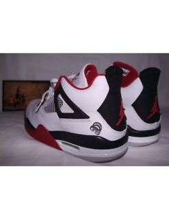 low priced 40b96 29a05 Image is loading 2006-AIR-JORDAN-RETRO-4-IV-FIRE-RED-
