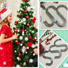 15pcs Silver Xmas Christmas Stocking Hooks Hanger Holder Fireplace Mantel Clips