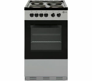 FLAVEL FSBE50S 50 cm Electric Solid Plate Cooker - Silver & Black - Currys