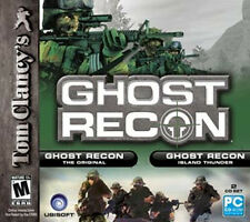 GHOST RECON + ISLAND THUNDER - Tom Clancy Original Shooter 2x PC Games NEW!