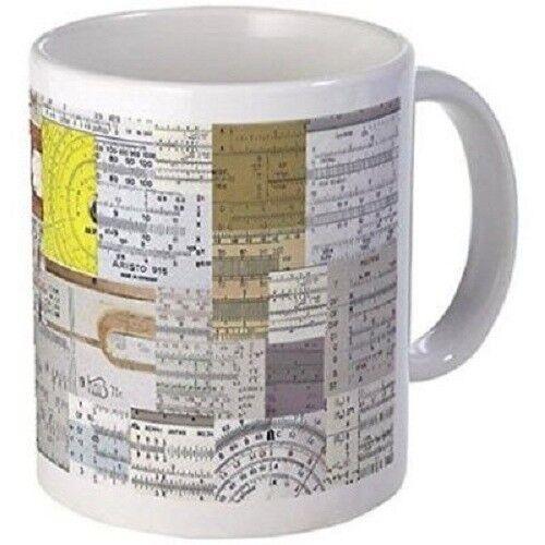 11oz mug with Slide Rule Scales Printed Ceramic Coffee Tea Cup Gift