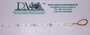 100 x 8 mm. 062 D.M Striscia 6 led SMD luce fredda per carrozze mis