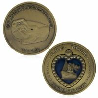 Titanic RMS Heart Of The Ocean Medal Commemorative Challenge Coin Bronze Plated
