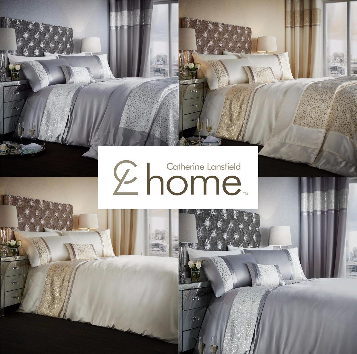 Catherine Lansfield Luxor Jacquard Duvet Quilt Cover Bed Linen Bedding