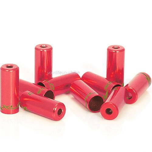 12 Endkappen für Bowdenzüge Innenzüge in rot