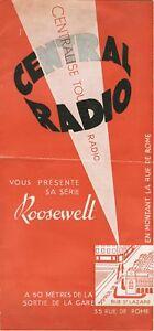 Central Radio DÉpliant Publicitaire Magasin AnnÉes 30-40, Original, Rare, Typoyfh2-07232836-639786833