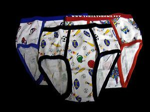 Boys Cartoon Briefs 100%Cotton 3 Boys Briefs Underwears | eBay